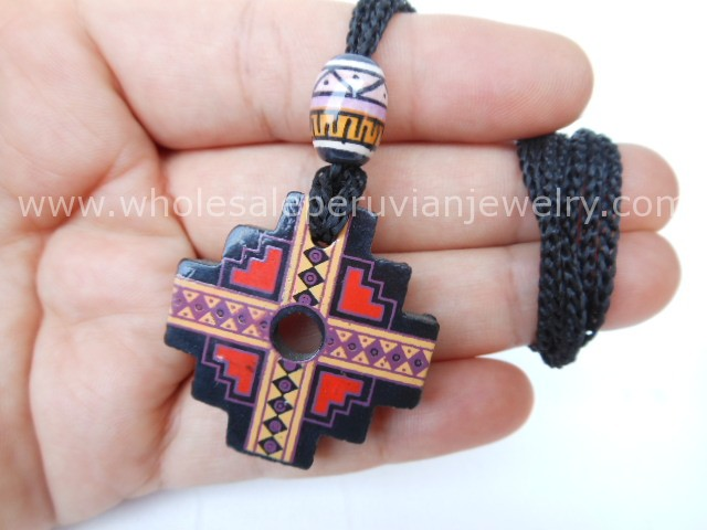 Wolves teeth pipes fantasy daggers andean cross necklaces inca 9 andean chakana cross pendants aloadofball Images